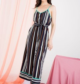 Stripe Jumpsuit Navy