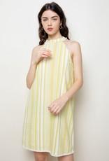 Halter Stripe Dress Yellow