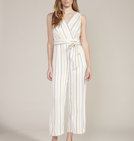 Know Your Stripe Jumpsuit Ivory