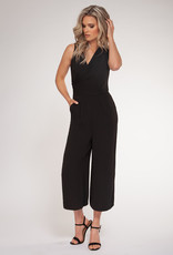 V-Neck Jumpsuit Black