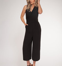 V-Neck Jumpsuit Black
