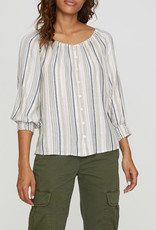 Blue Water Blouse Stripe