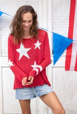 Stars and Stripes Sweater Red
