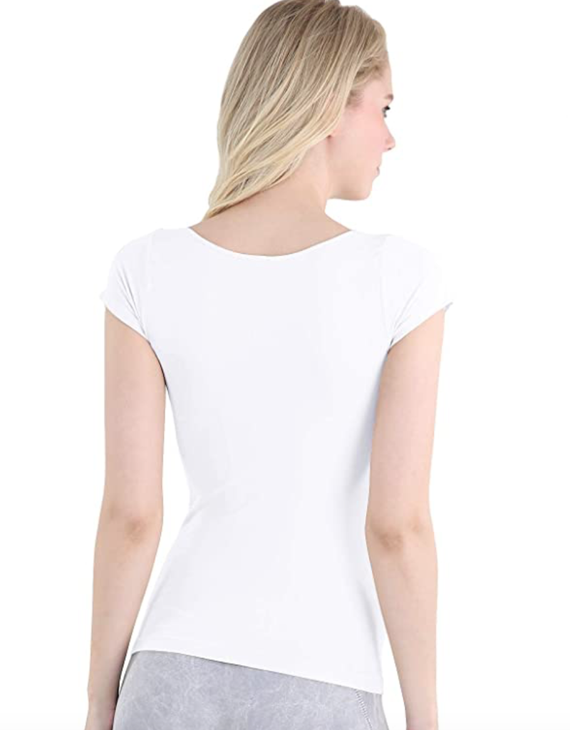 Cap Sleeve Scoop Neck