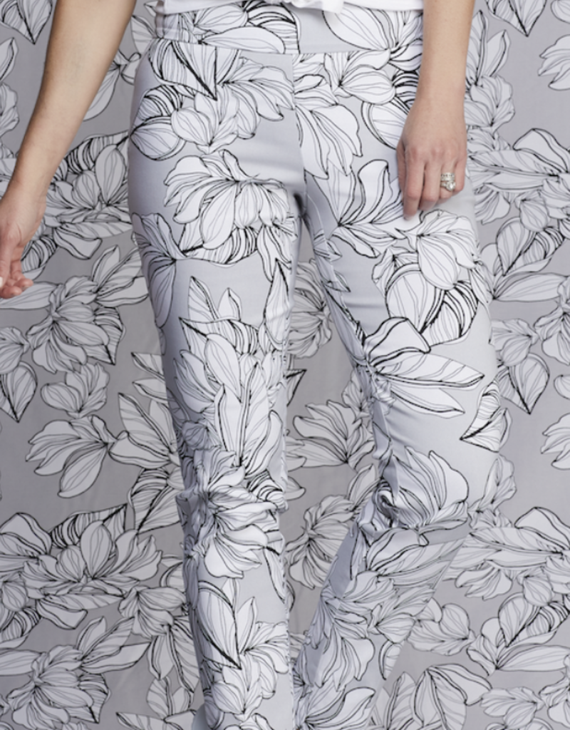 Techno Delray Pant Grey Floral