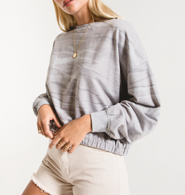 Camo Relaxed Pullover Heather Grey