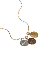 Hope, Peace, Love Necklace