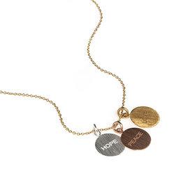Hope, Peace, Love Necklace