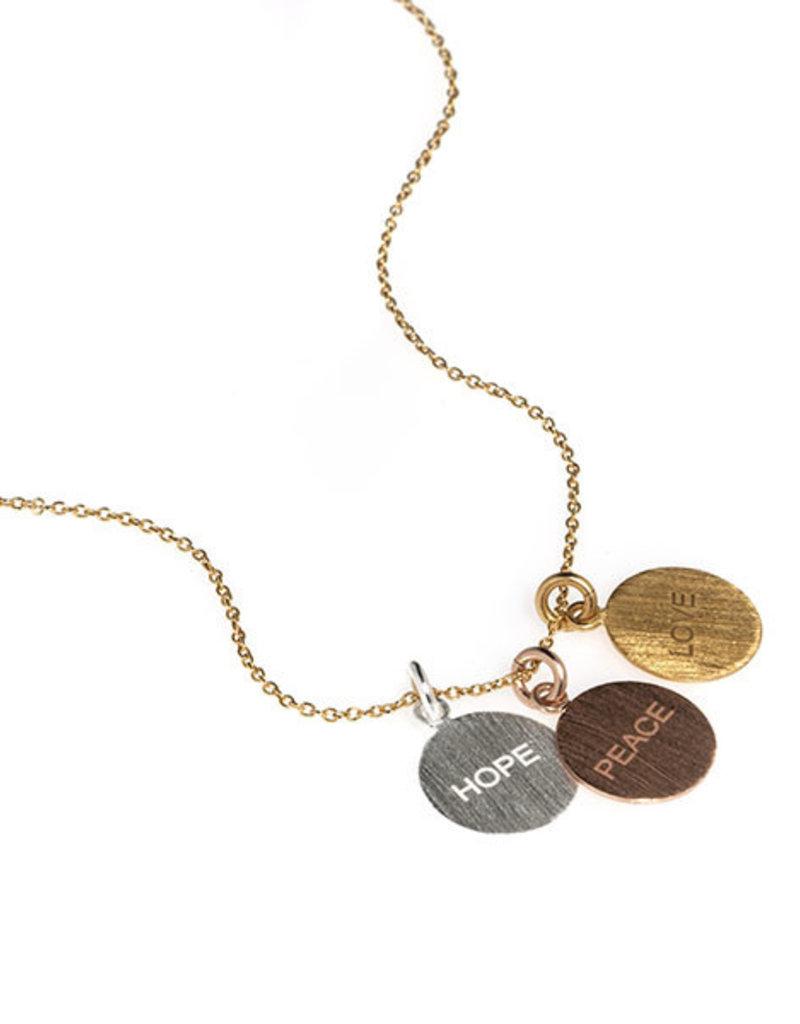 Anuja Tolia Hope, Peace, Love Necklace