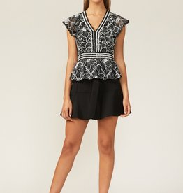 Jacey Blouse Black/White