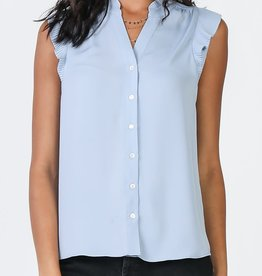 SS Button Up Blue