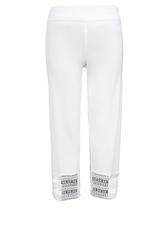 White Crochet Crop Pant