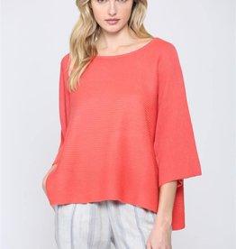 Short Sleeve Knit Sweater