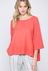 Short Sleeve Knit Sweater