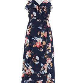 Floral Printed Dress Navy