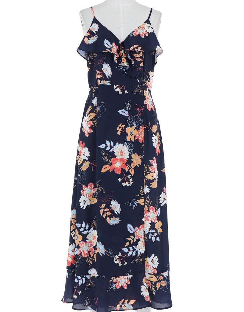 Floral Printed Dress Navy