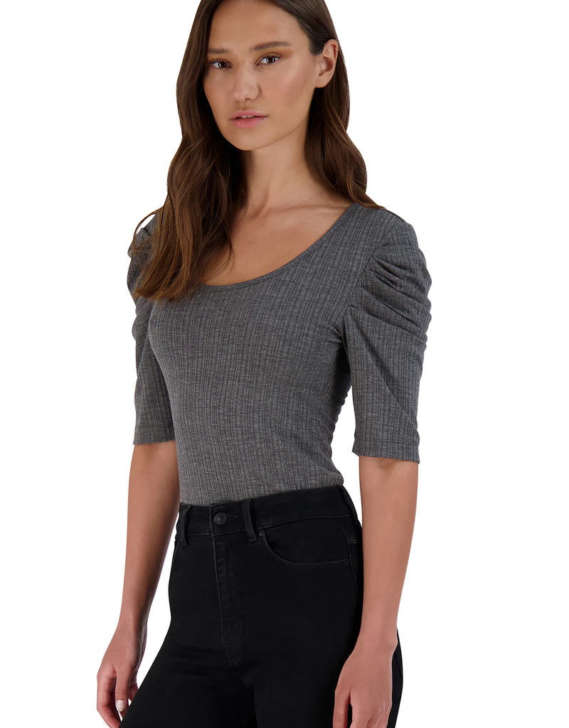 Get The Scoop Top Grey