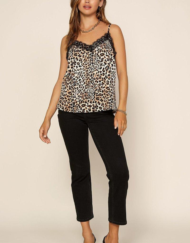 Lace Cami Leopard