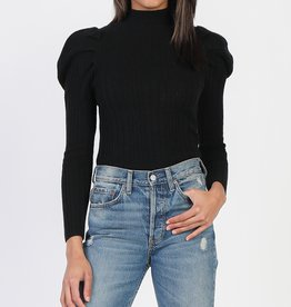 Puff Sleeve Turtleneck Black