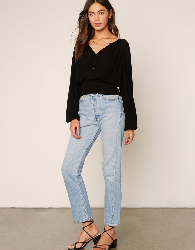 Into The Night Top Black