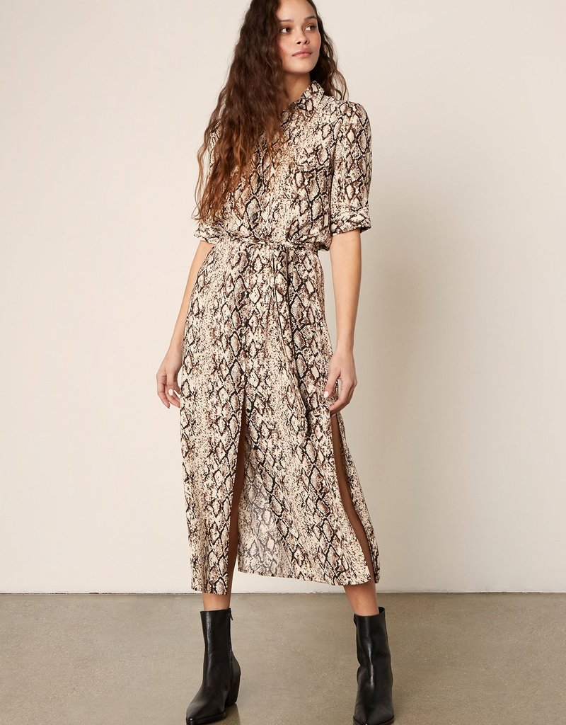 Hither & Slither Dress Brown
