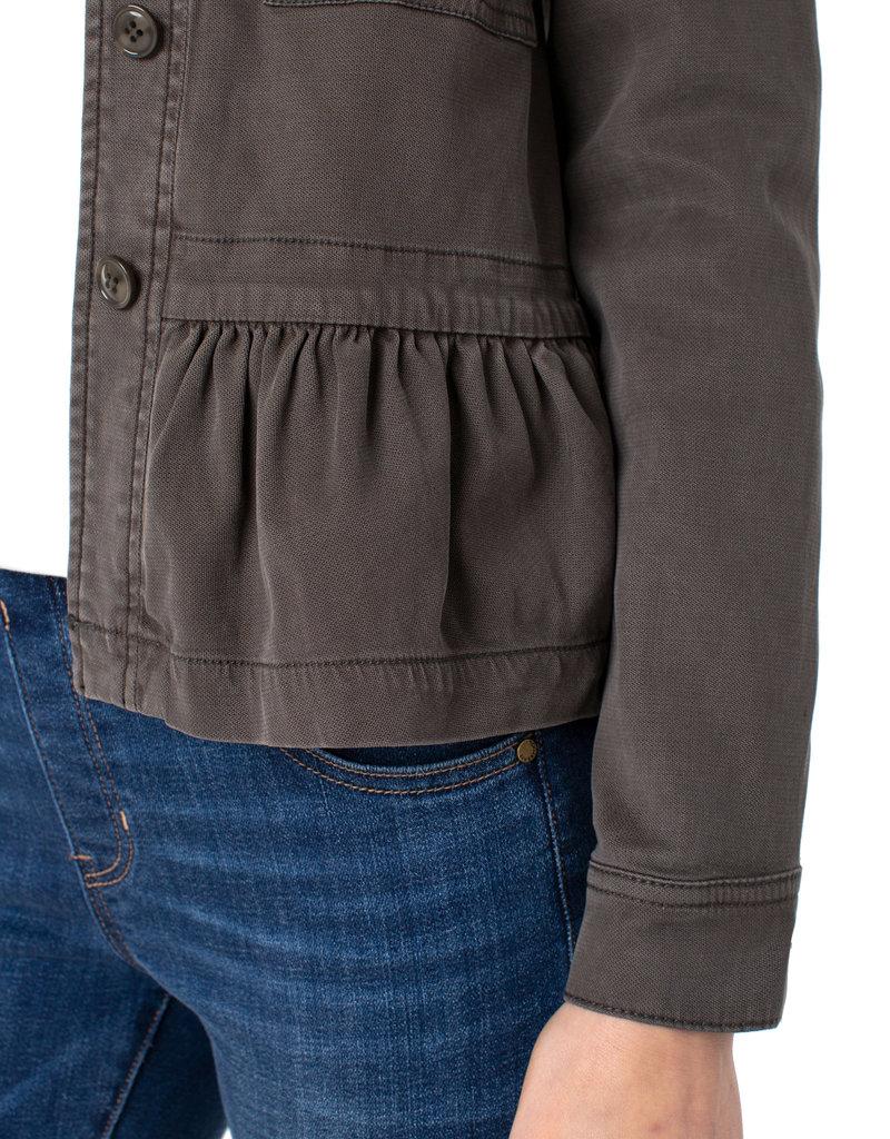 Cargo Jacket w/ Peplum Emerald