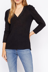 Hanna Pleated Sleeve Blouse Black