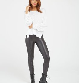 Faux Leather Moto Legging Black