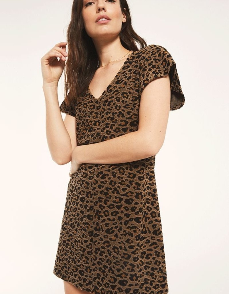 Lina Jaquard Dress Toffee
