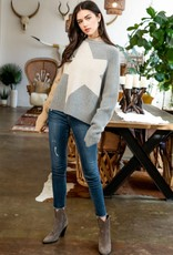 Large Star Sweater Beige