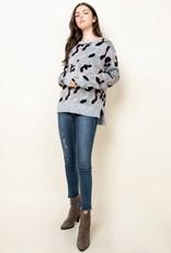 Camo Sweater Black/Pink