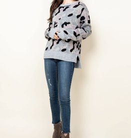 Camo Sweater Black/Pink
