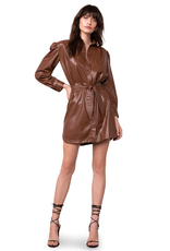 Faux Nelly Dress Walnut