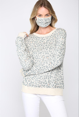 Leopard Sweater w/ Mask Oatmeal