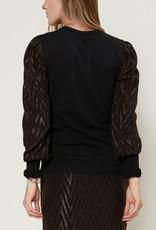 Lurex Sleeve Sweater