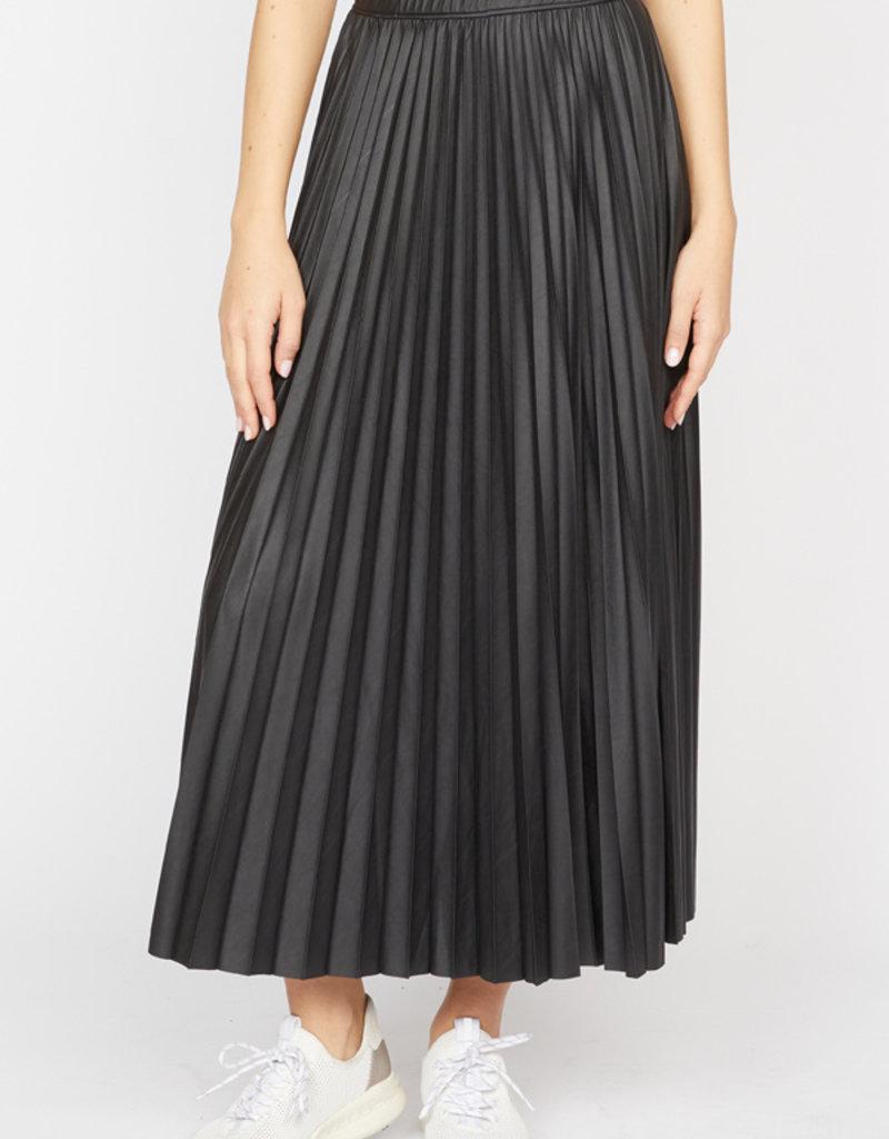 Top Secret Pleated Skirt Black