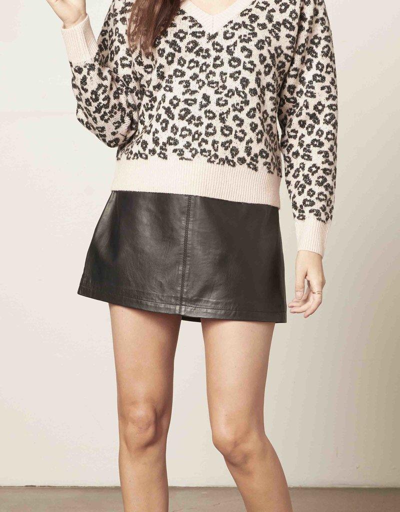 Monroe Sweater Pink Leopard