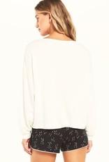 Night Owl Starry Sweatshirt Vanilla