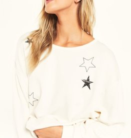 Night Owl Starry Sweatshirt Vanilla