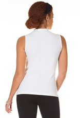 Mock Neck Top Off White