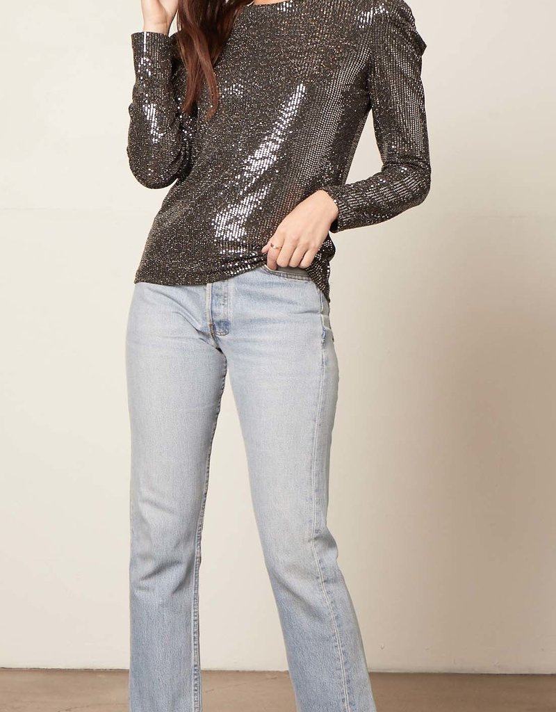 Let It Shimmer Top Black