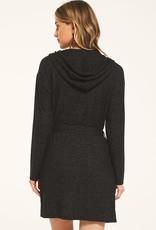 Cassie Marled Robe Black