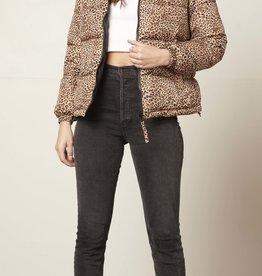 Cool Kitten Puffer Jacket Black/Leopard