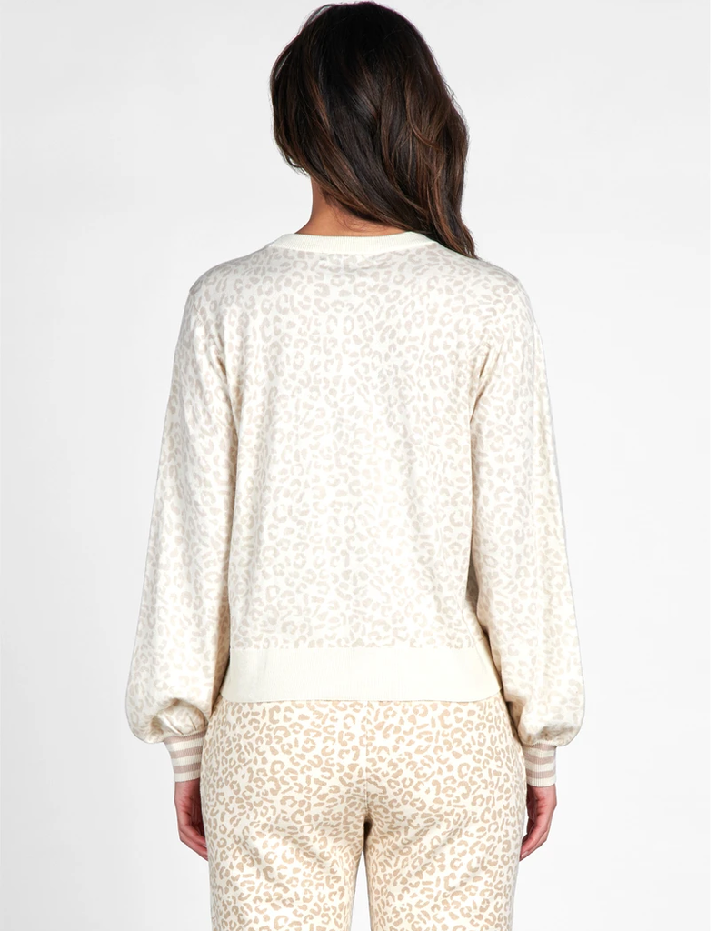 Barely Leopard Sweater Ivory