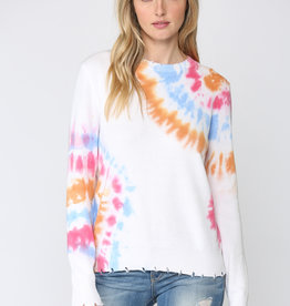 Distressed Tie Dye Sweater Multi