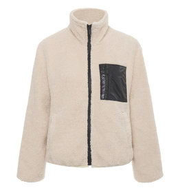 Sherpa Zip Up Jacket Latte
