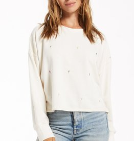 Amelia Mini Bolt Pullover Bone