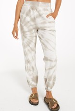 Emery Spiral Tie Dye Jogger Taupe
