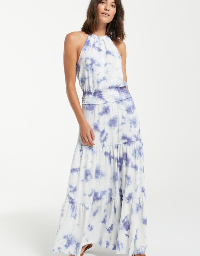 Beverly Cloud Tie Dye Dress Navy