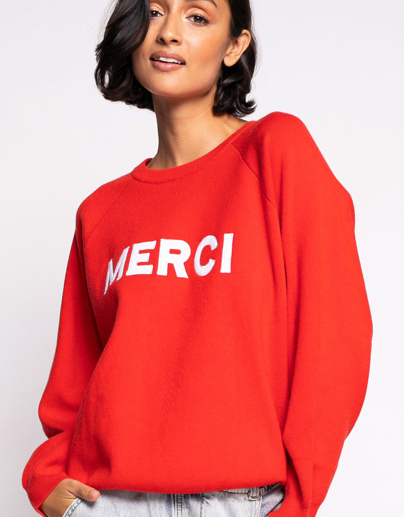 Merci Sweater Red